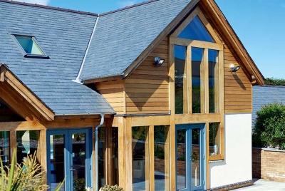 half timbered self build home