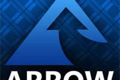 arrow electrical logo blue
