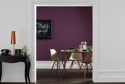 crown paint Time Machine – Plush Parlour and English Manor Period Collection Flat Matt Emulsion purple