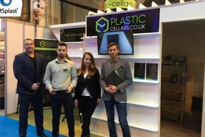 plastic cellars team at the Homebuilding & renovating show