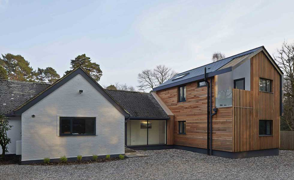 two storey extension with timber cladding