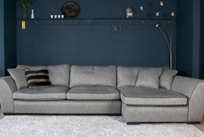 collins and hayes time out grey corner sofa