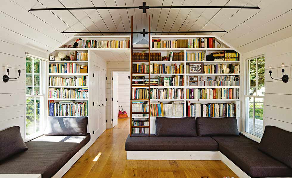 A mezzanine level above this living space offers the perfect snug retreat