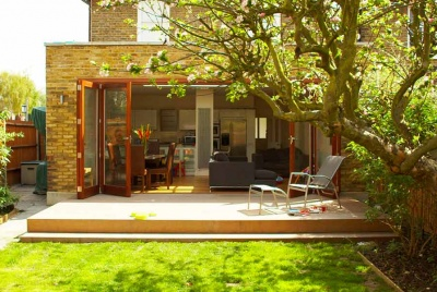 architect your home garden view bi fold doors decking