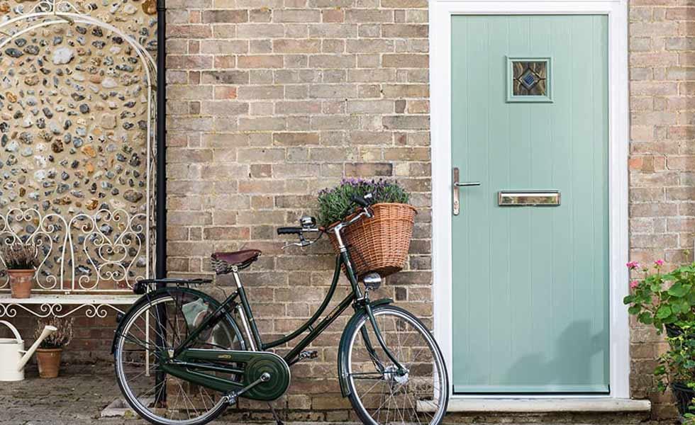 everest green front door bicycle