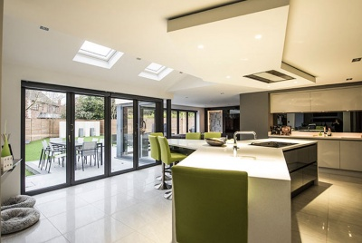 haus glass origin bifold doors kitchen