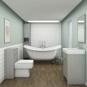 victorian plumbing curved roll top bath