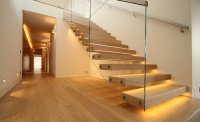 canal architectural under light stairs