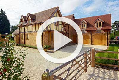 timber frame post and beam oak home