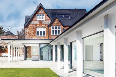 May 2017 Homebuilding & Renovating issue cover with a contemporary extension to a Victorian house