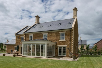 cupa natural roof slate langton development house lawn