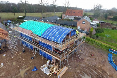 SIPS UK aerial view of roof