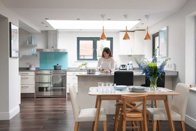 Contemporary open plan kitchen extension