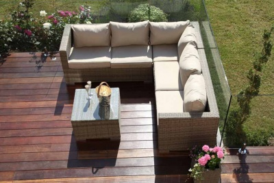 mode living Maze Rattan - Tuscany Porto Corner Sofa Set