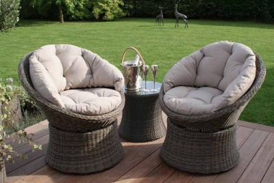 mode living round weave furniture bucket chairs
