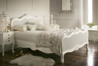 time4sleep Provence Rattan in White