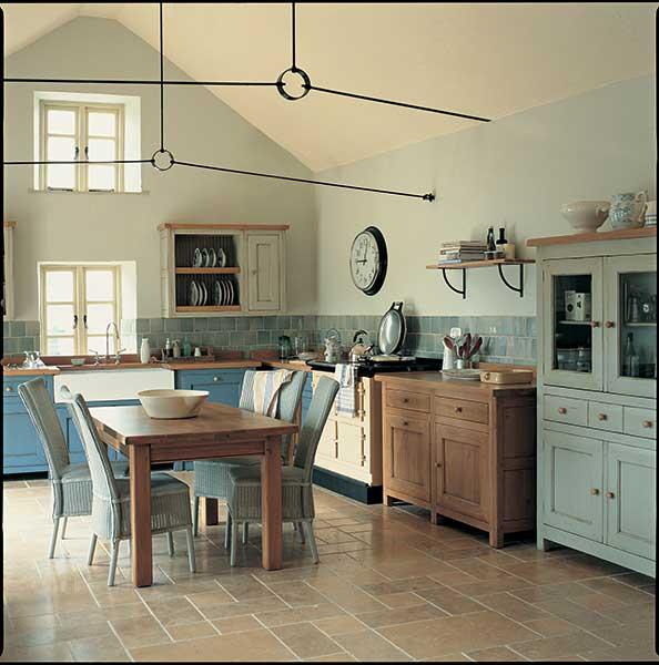 Natural stone kitchen flooring