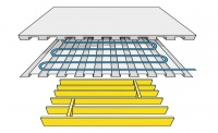 Lewis Deck with underfloor heating over timber joists