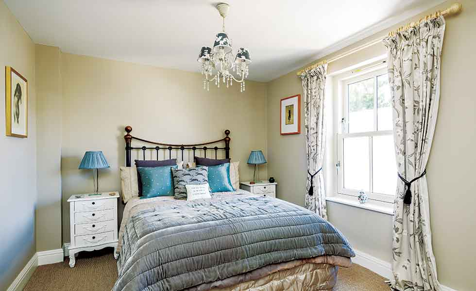 The package self build features four generous bedrooms to accommodate the couple and their visiting family