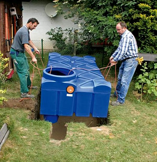 rainwater harvesting installation