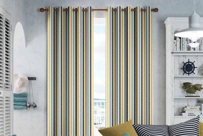 curtains 2go Houndstooth Beach Blue