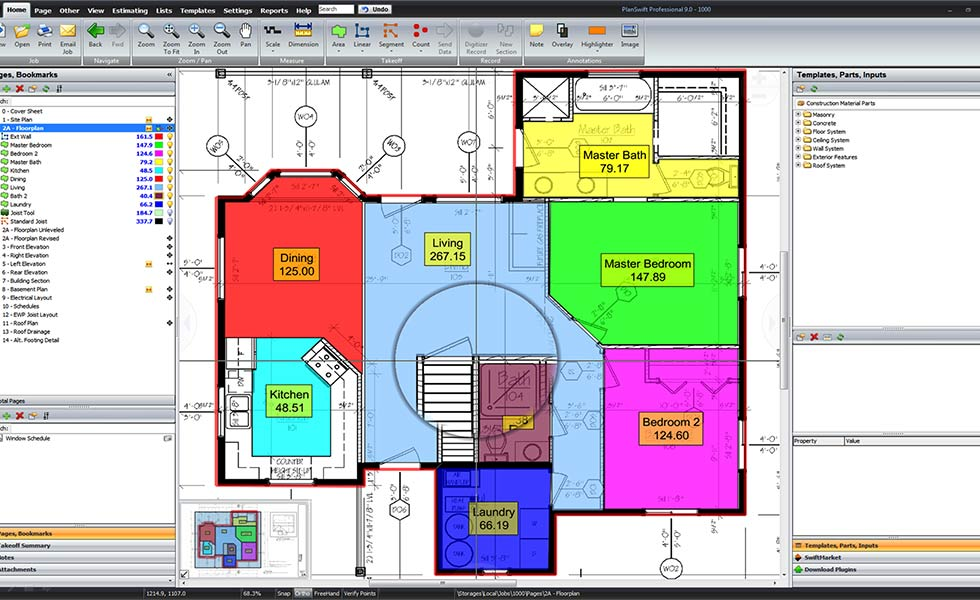planswift cad drawing plan
