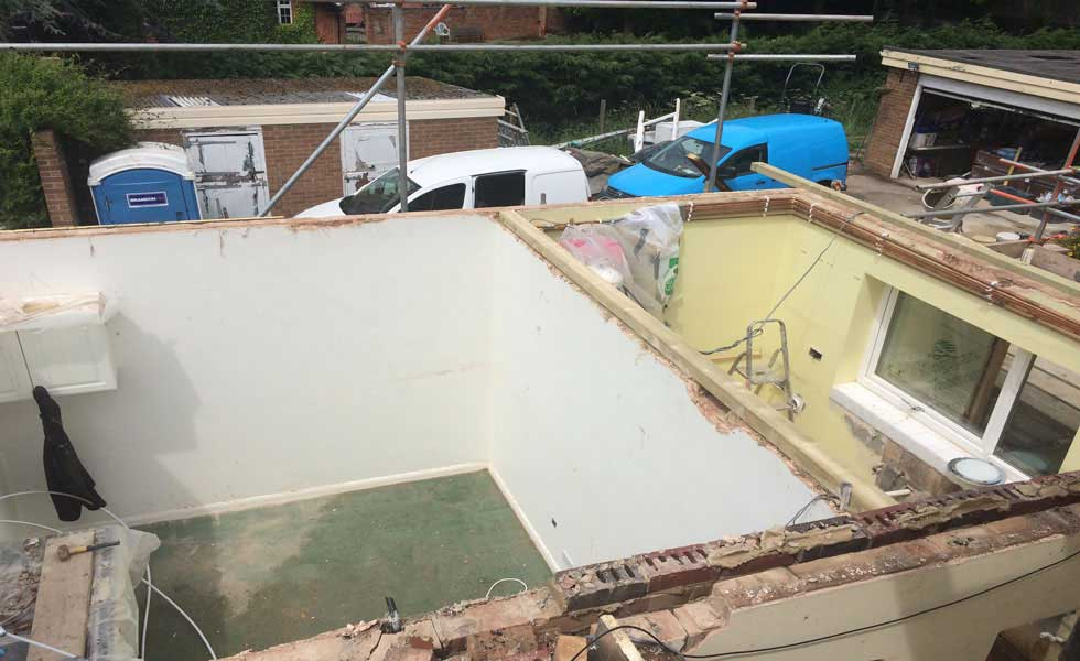 removing a flat roof
