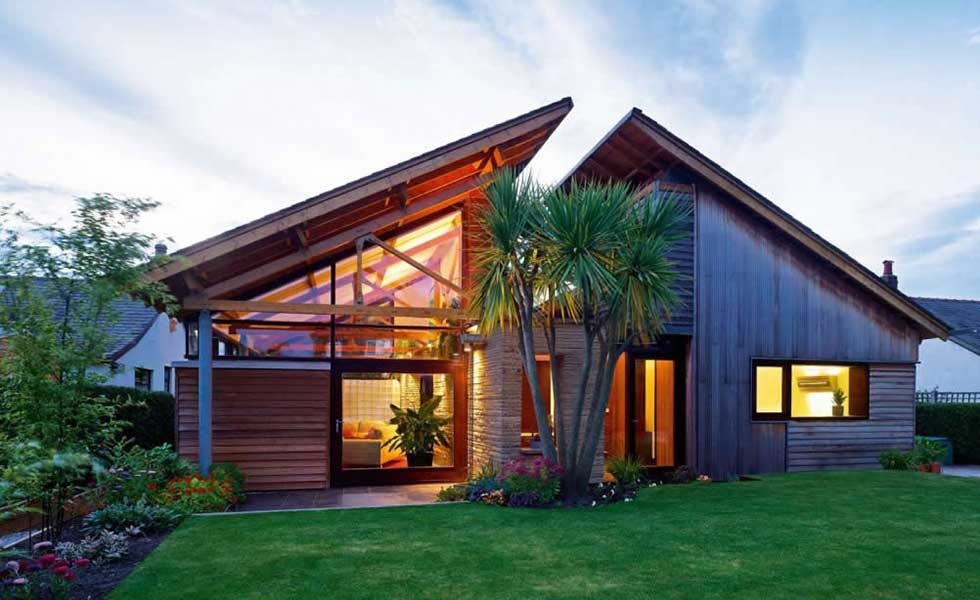 bungalow with angular roof