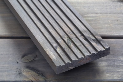 Q-Shades pebble grey canterbury decking grooved