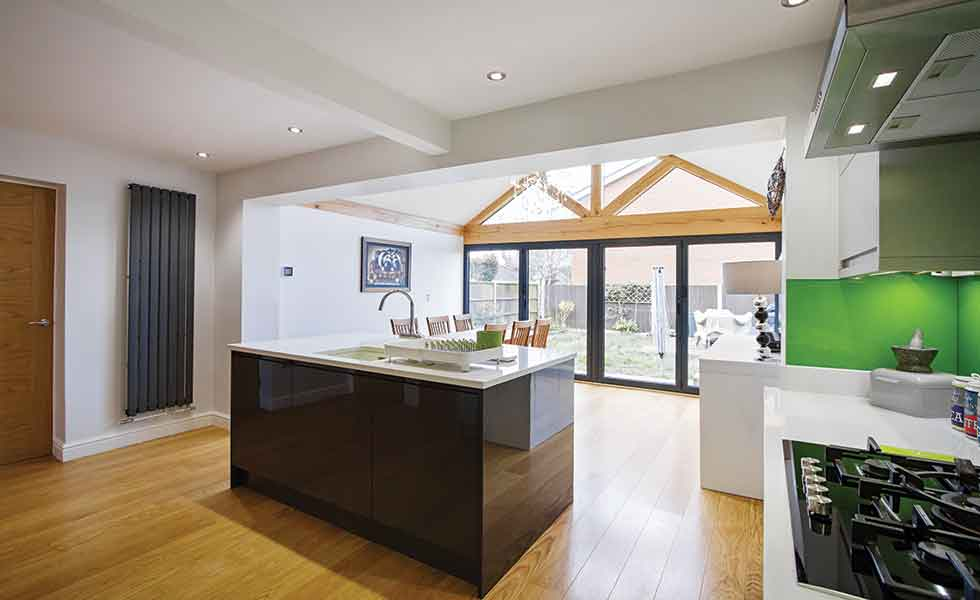 This oak frame extension from Croft Architecture was built on a budget of under £50,000