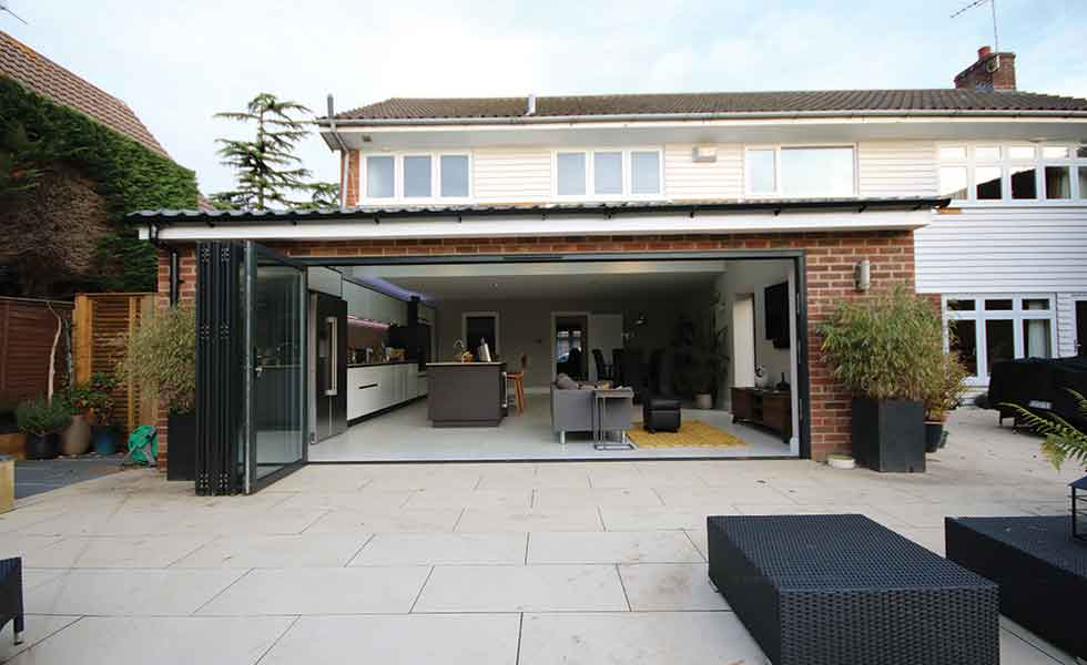 A large extension by Eclipse Property Solutions has transformed the living space of this family home