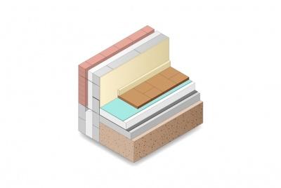 EPS Floor Insulation above concrete slab