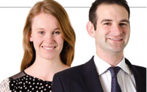 Beth Williams and  Joshua Myers, trainees, Hogan Lovells
