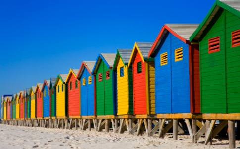 pensioners, holiday, beach huts