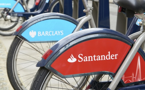 Barclays Santander bank bicycle London BoJo