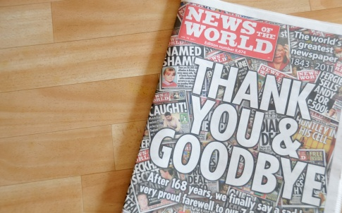 News of The World Leveson newspaper