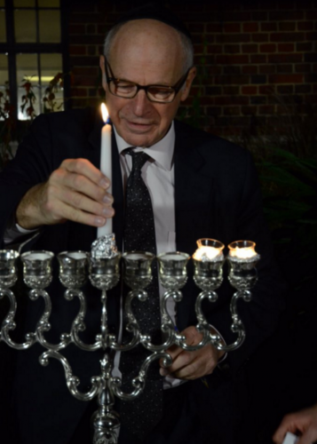 Lord Neuberger menorah Chanukah