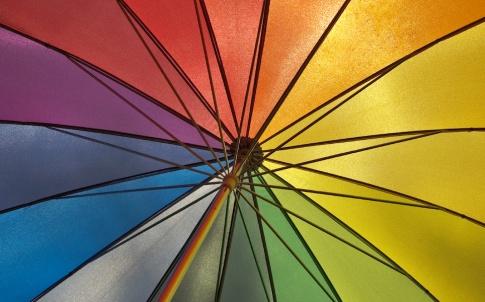 rainbow umbrella gay pride