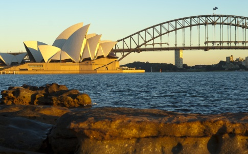 Australia harbour bridge opera