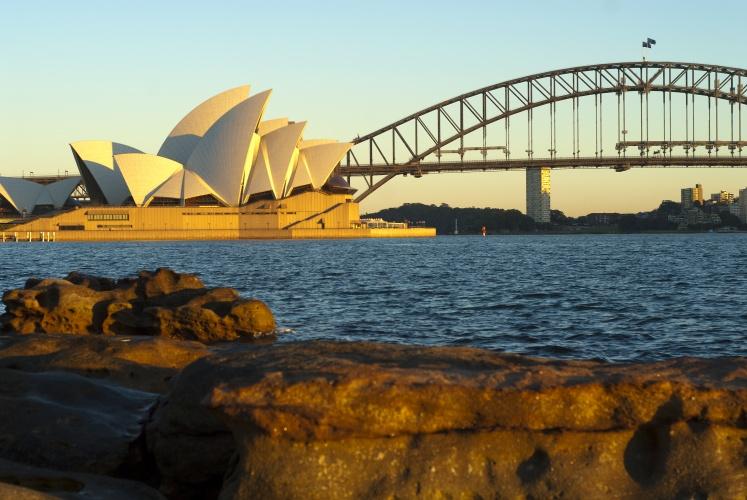 Australia harbour bridge opera