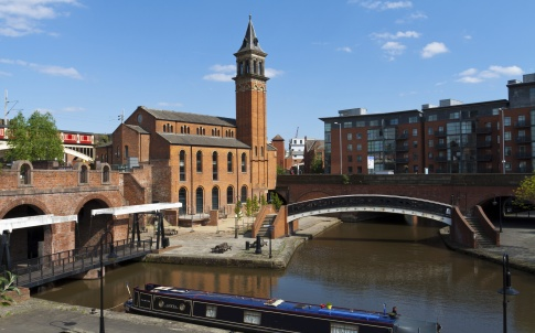 Junction of the Bridgewater, Ashton and Rochdale Canals in Castlefield, Manchester.
