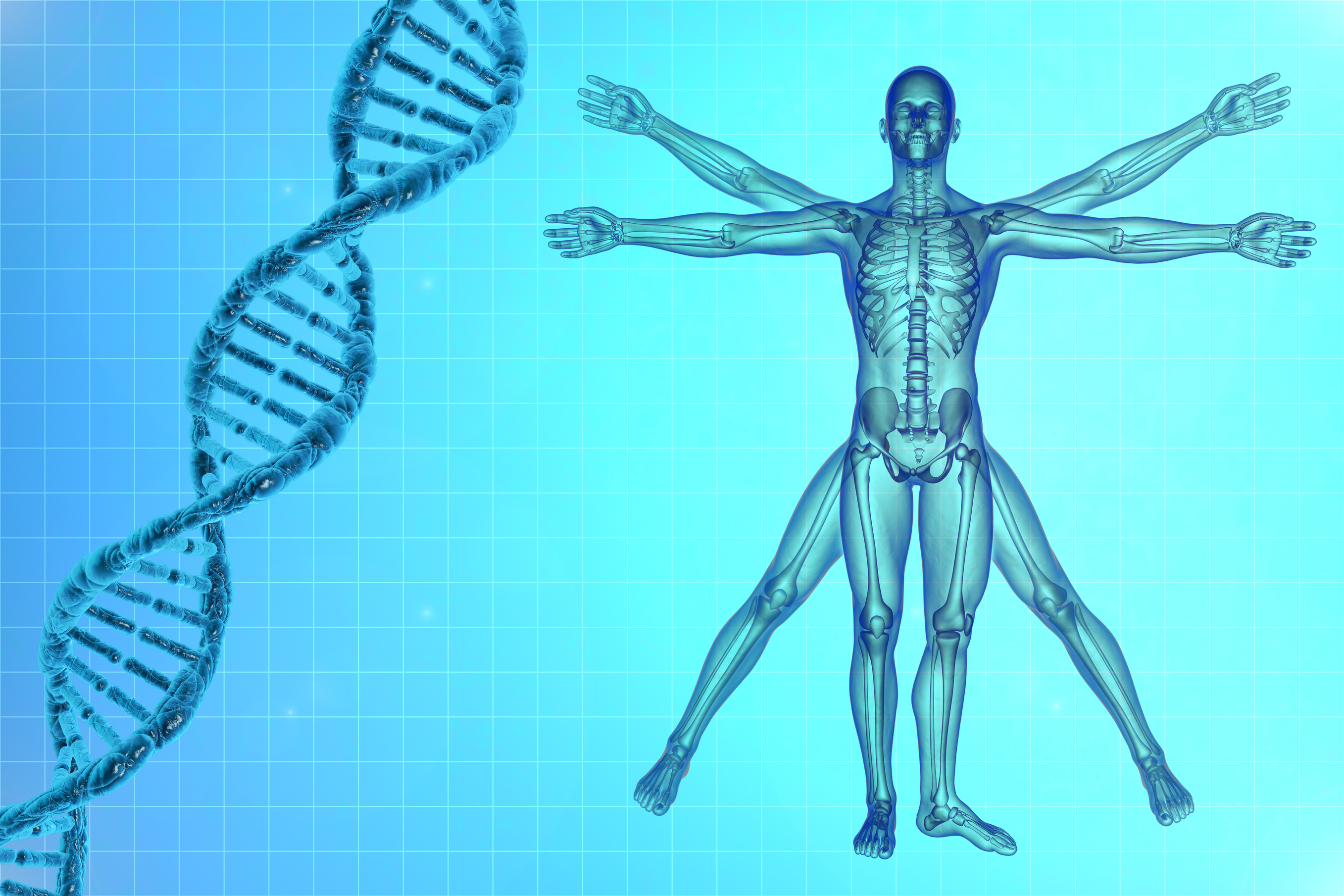 DNA, life sciences, medicine, de vinci