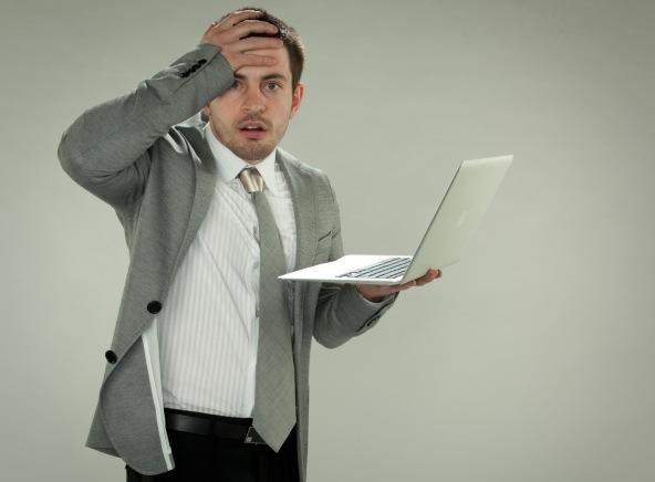 Social media disaster fear laptop computer internet
