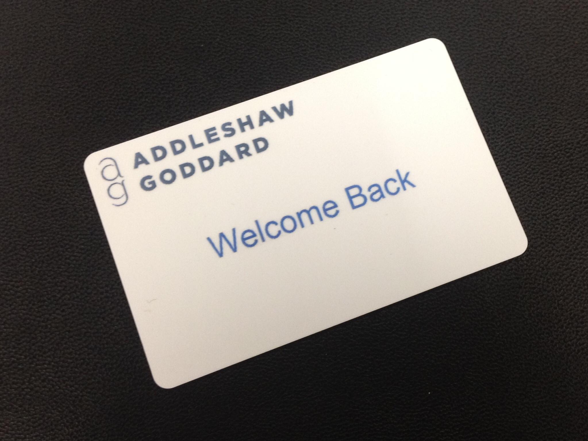 Addleshaws swipe card Tulkinghorn