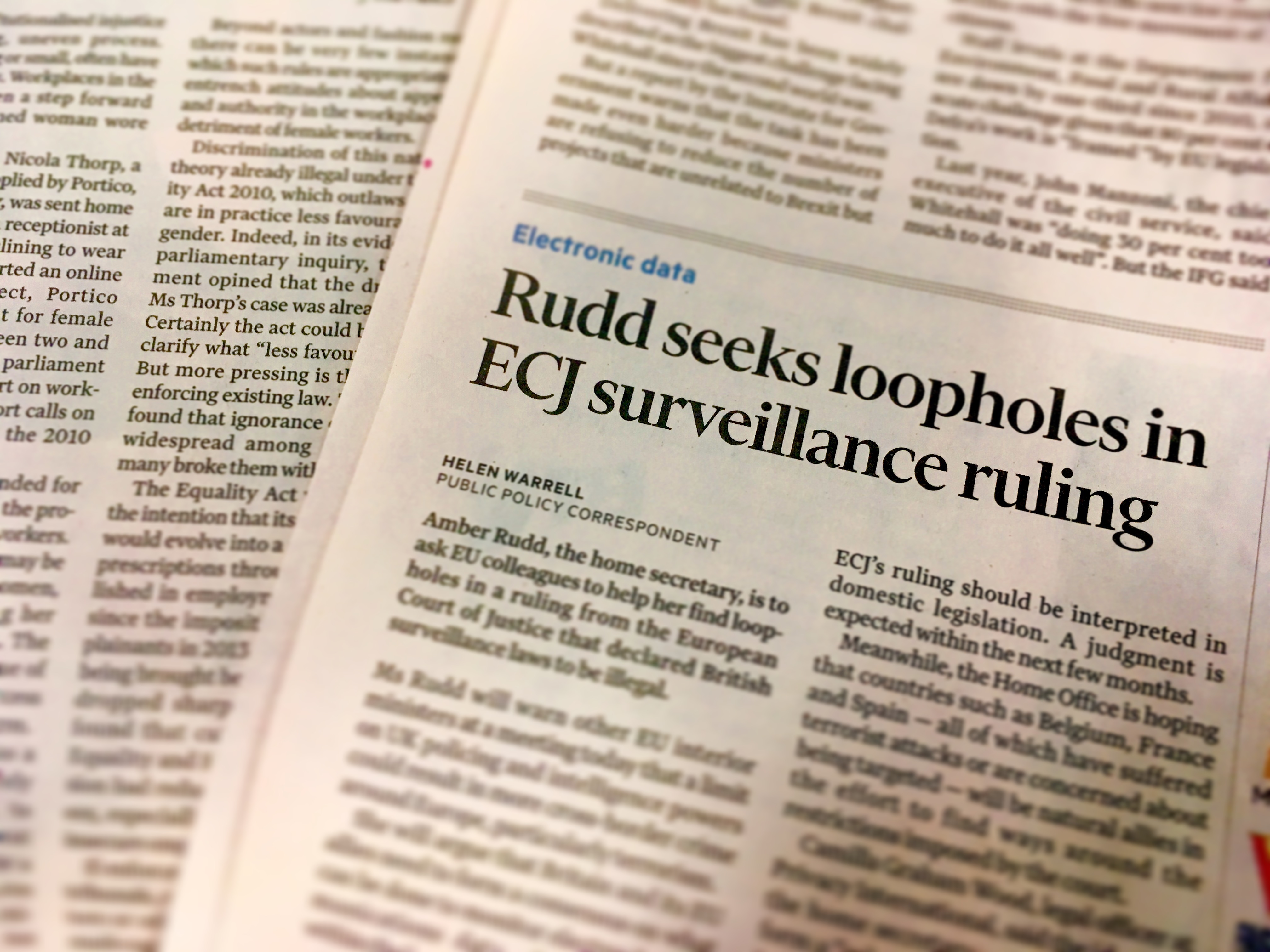 What the FT? UK to press EU for loopholes in surveillance ruling ...