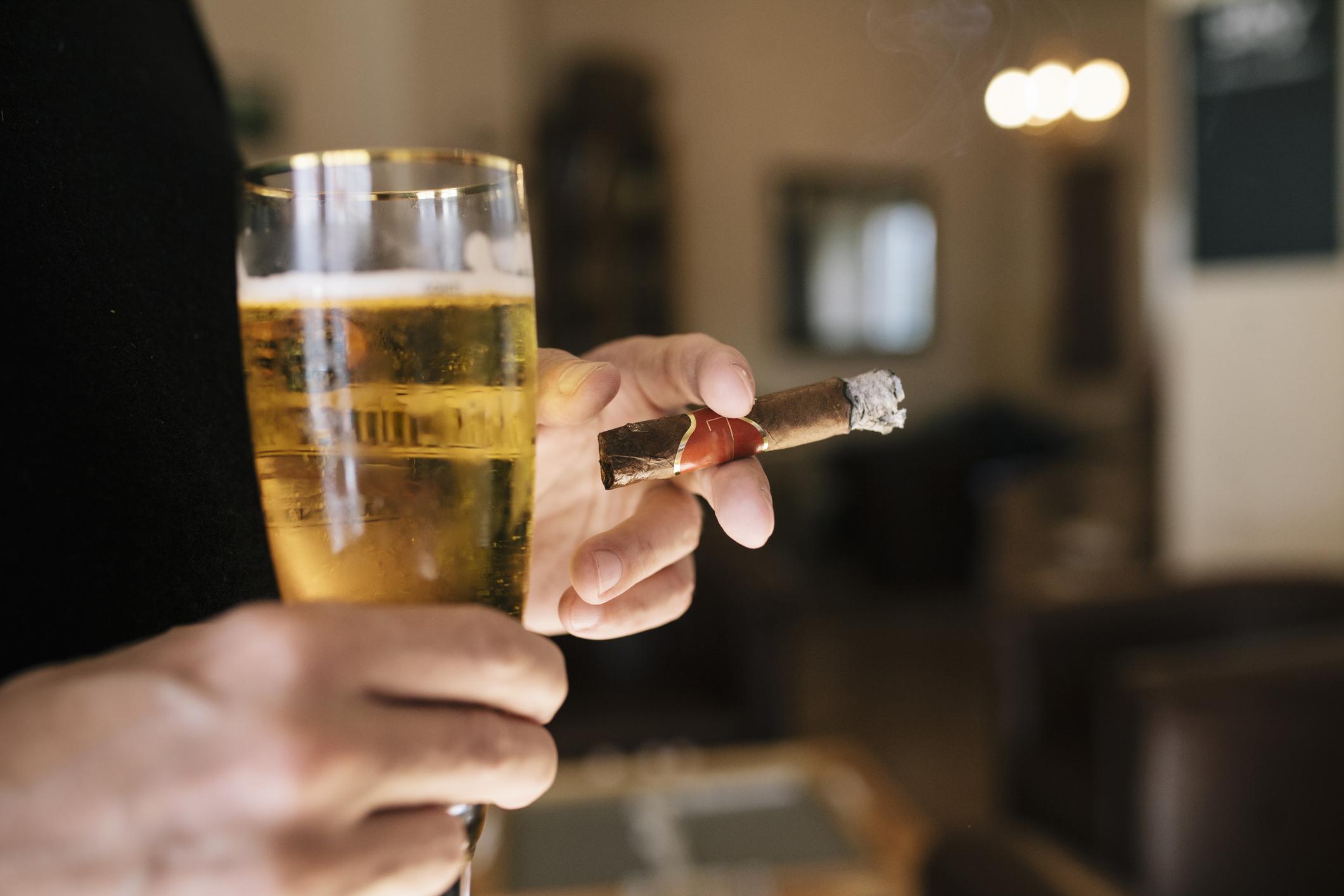 man, cigar
