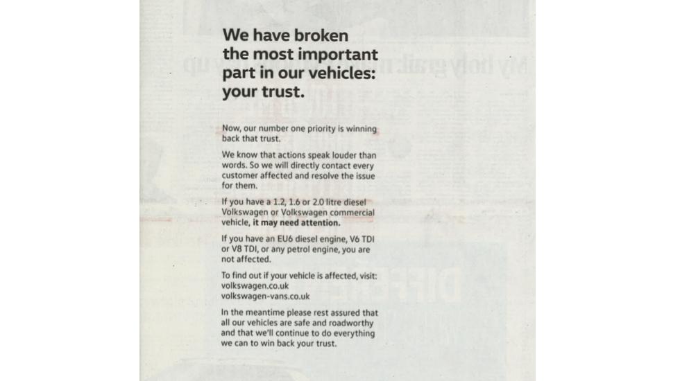 VW rebuild trust ad