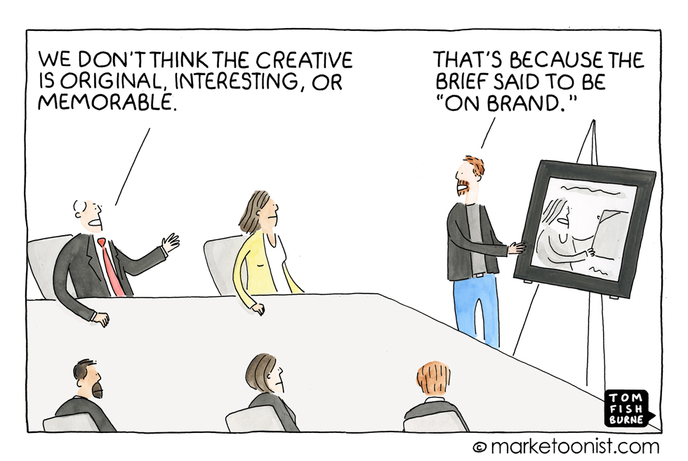 Being on brand Marketoonist 3 2 16