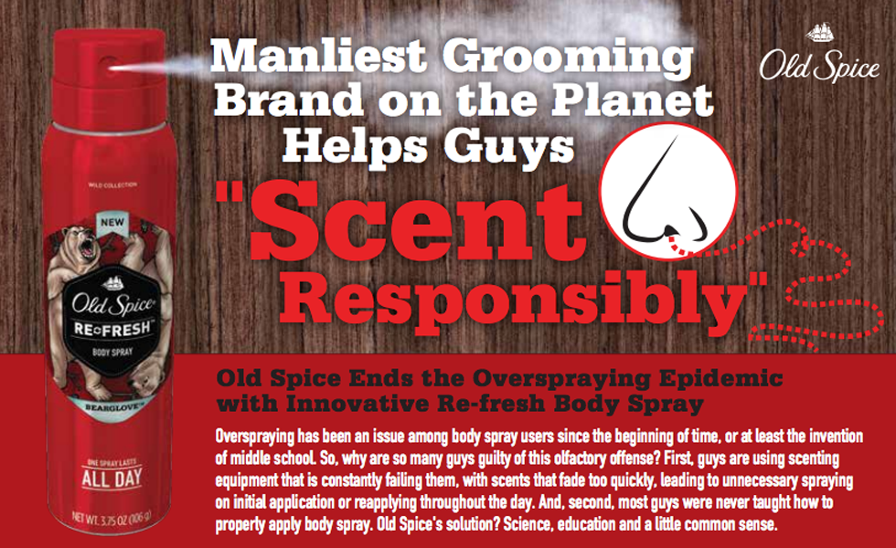 old spice smellcome to manhood copy