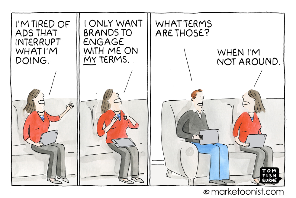 Terms of engagement, Marketoonit